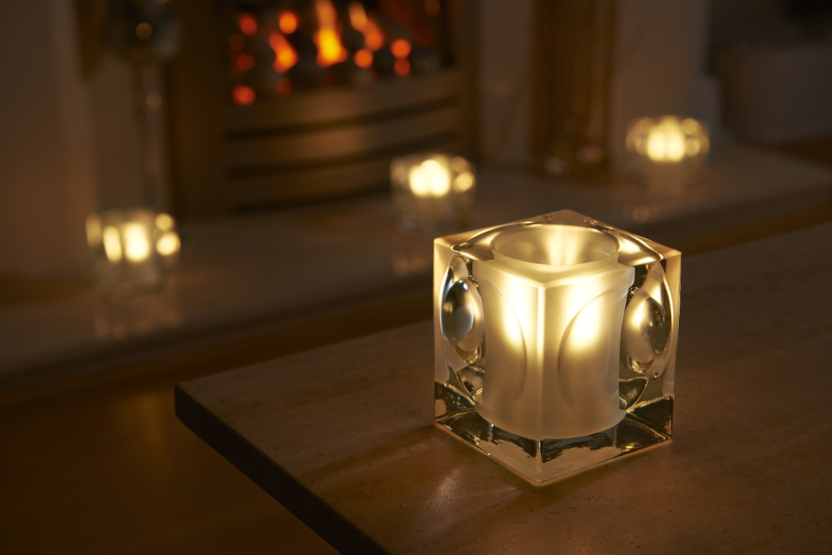 Wall Sconces Glass Candle Holders With Free Tea Lights : Auraglow Frosted Polished Glass LED Tea Light Candle Holders eBay