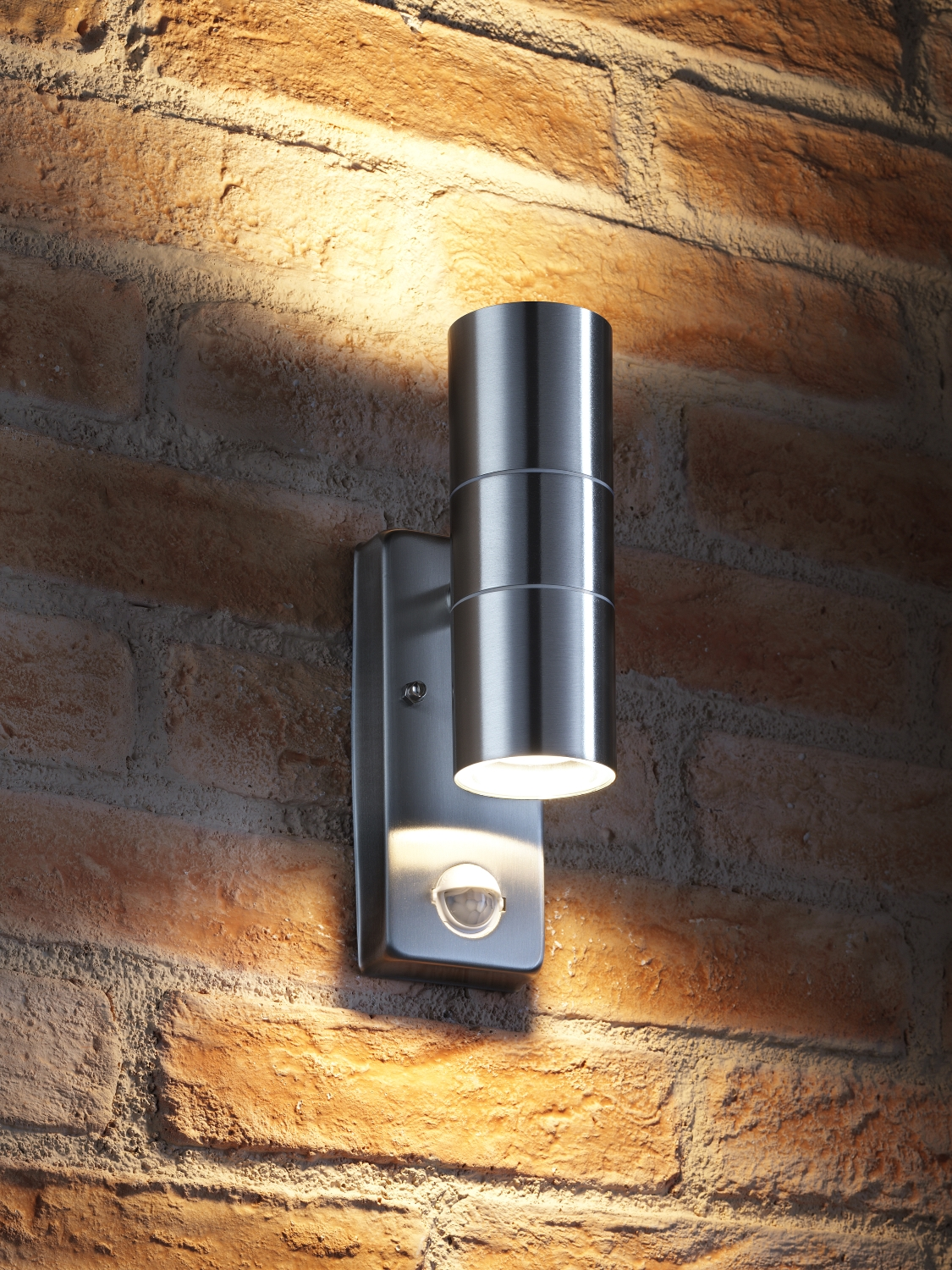 Auraglow Pir Motion Sensor Stainless Steel Up Down