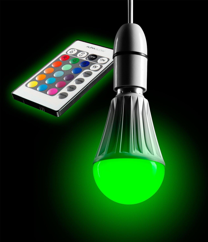 Auraglow 7w Remote Control Colour Changing Led Light Bulb: AURAGLOW 10w Remote Control Colour Changing LED Light Bulb