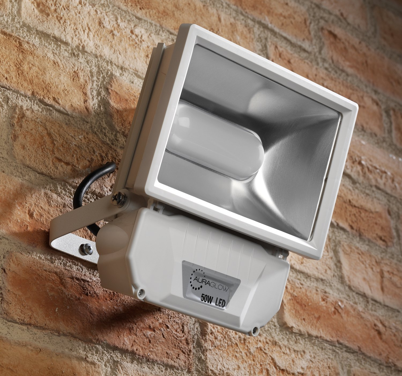 Auraglow 50w Led Security Light 250w Eqv White
