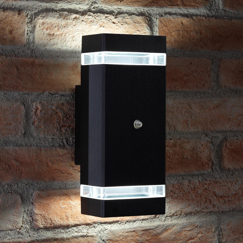 Double Insulated Outdoor Security Lights: Auraglow Dusk Till Dawn Sensor Double Up & Down Outdoor