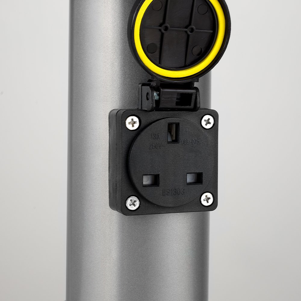 Auraglow Outdoor Stainless Steel Post Light With 240v