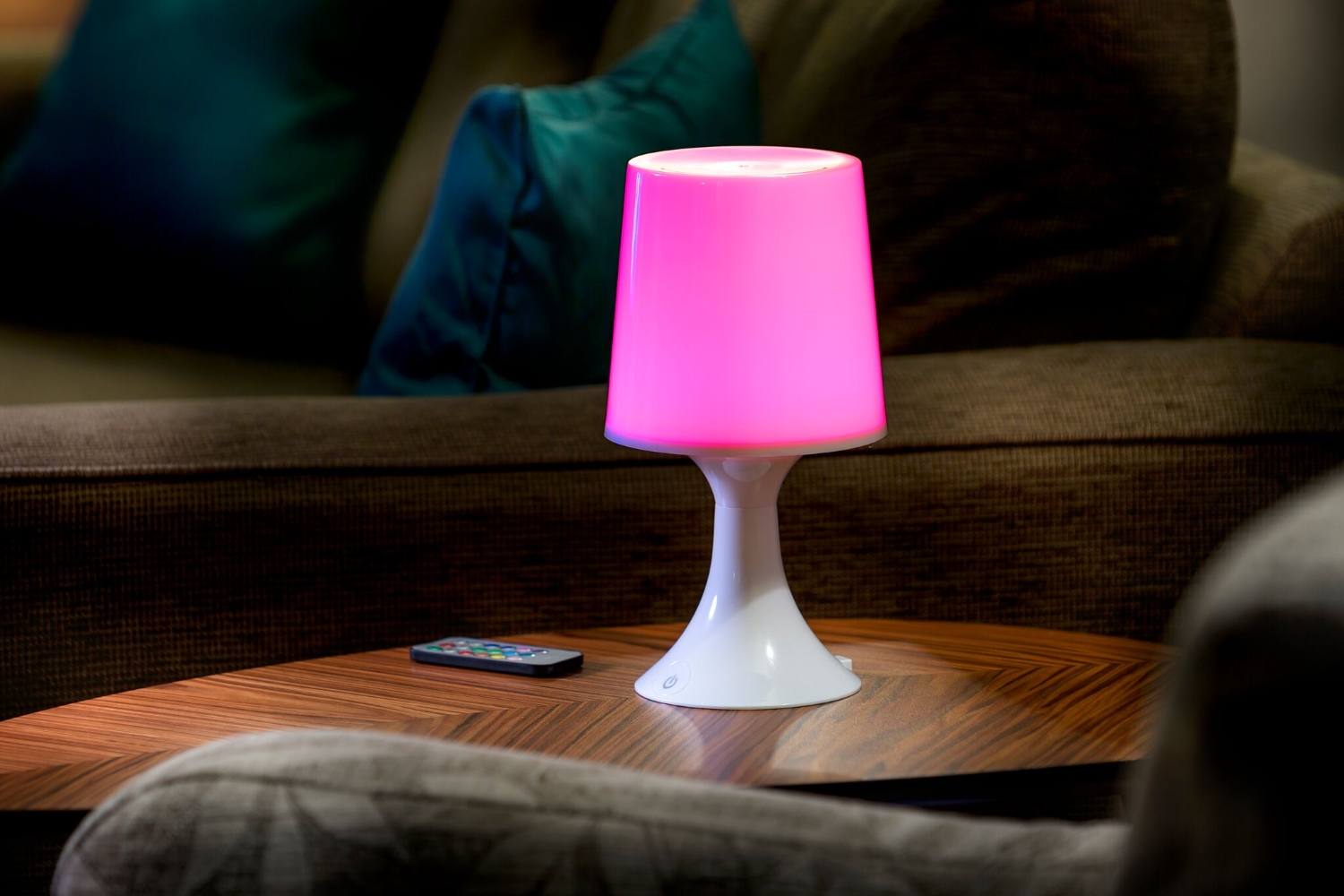 Remote Control Colour Changing LED Table Lamp - Auraglow ...