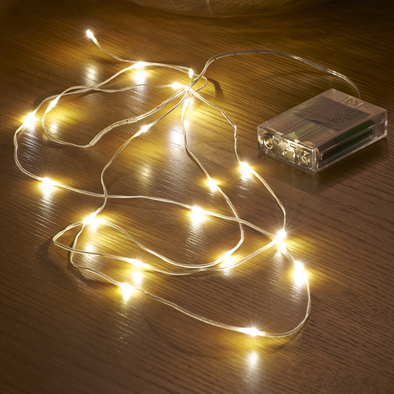 micro led string lights battery operated 2 3m. Black Bedroom Furniture Sets. Home Design Ideas