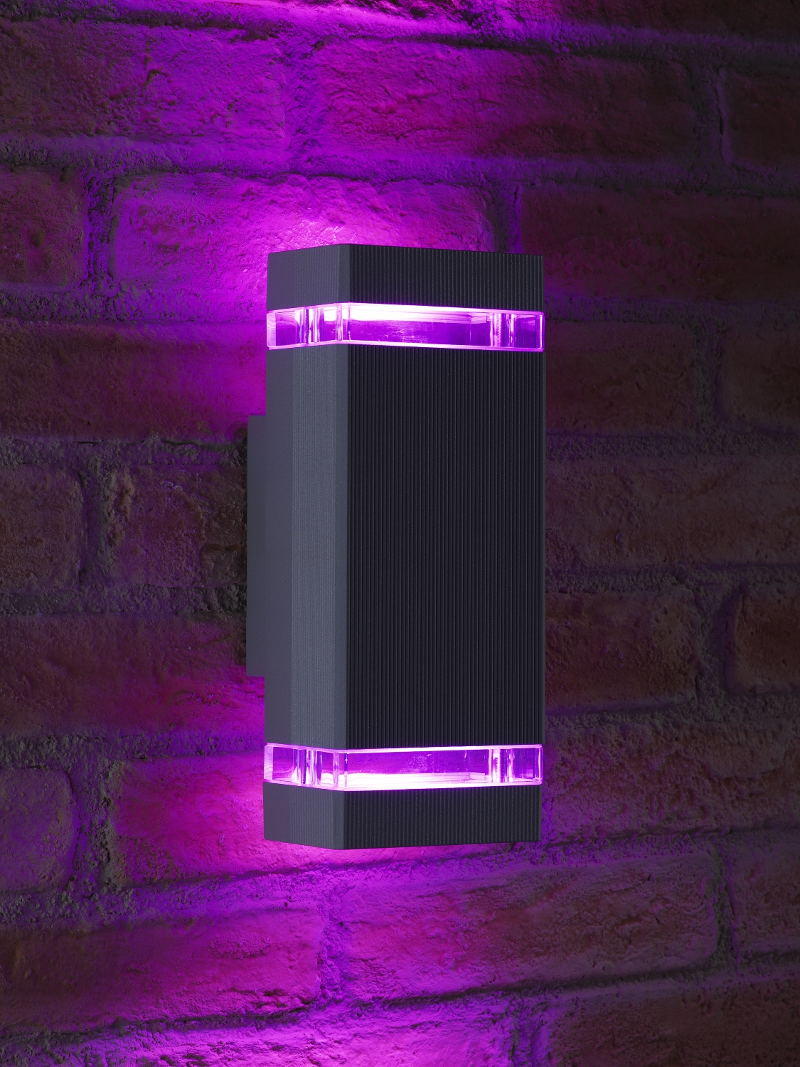Solar Wall Lights Screwfix : Auraglow Remote Control Colour Changing LED Double Up & Down Outdoor Wall Light eBay