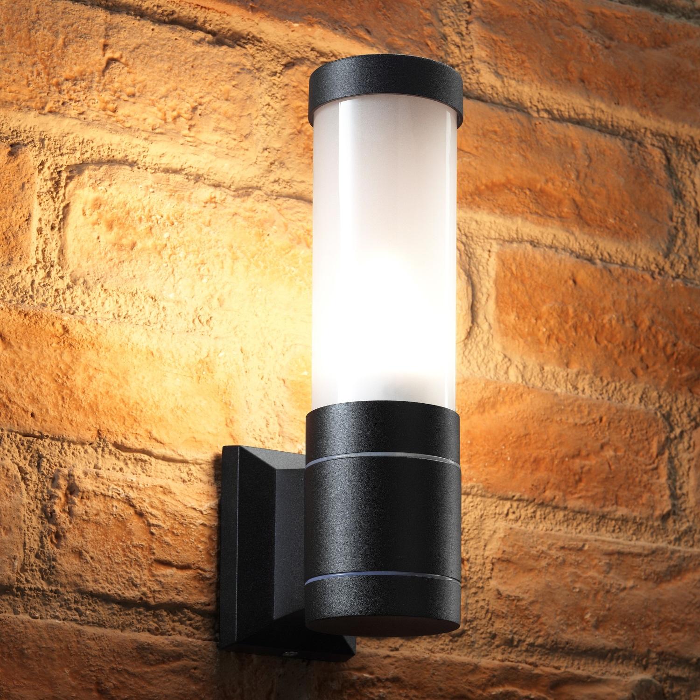 Auraglow 5w Outdoor Garden Wall Light Ottershaw Black