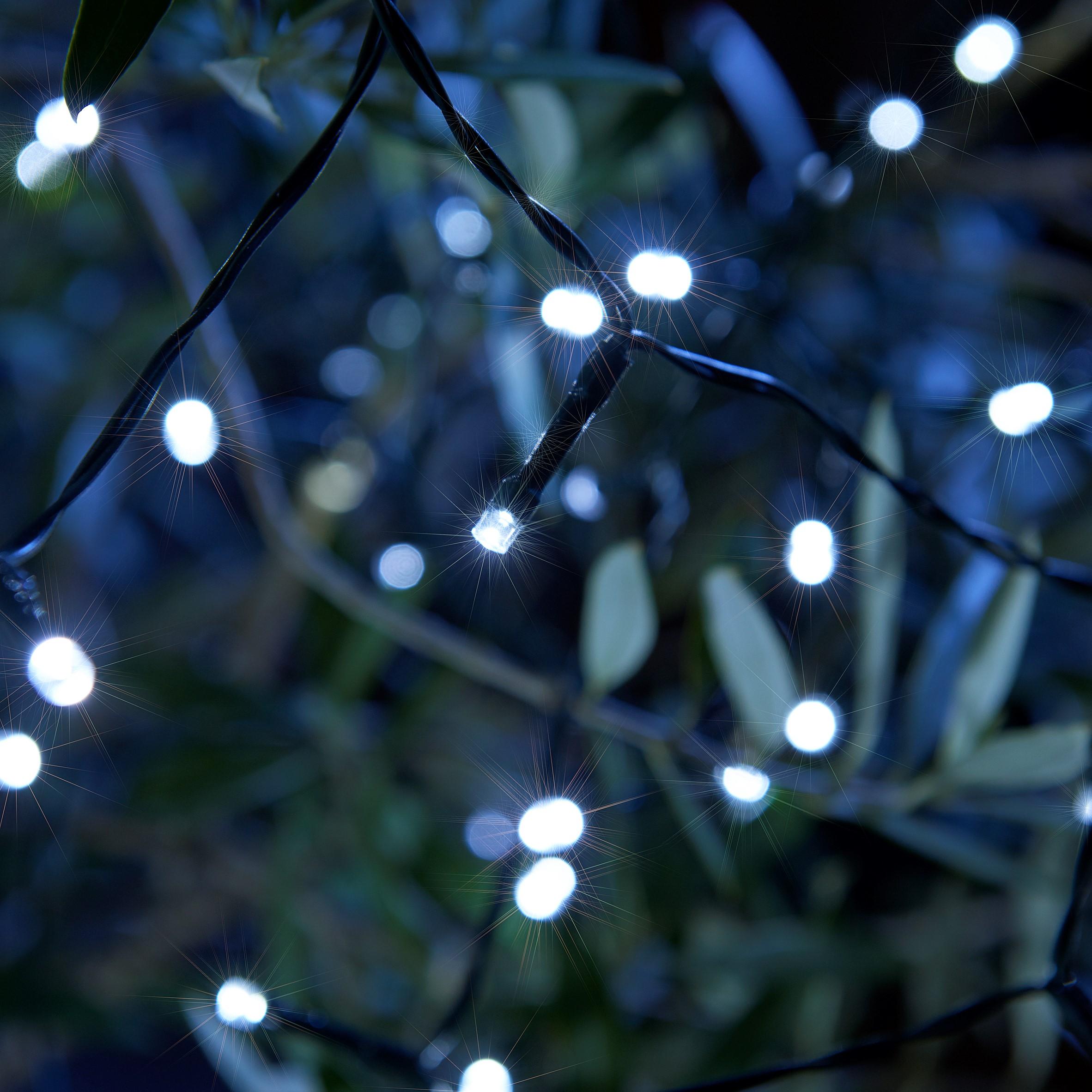 Set Of 100 Decorative Led Solar String Lights Auraglow