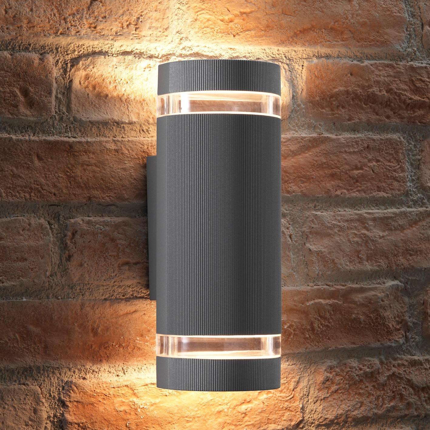 Elton Silver Double Up And Down Led Wall Light Transform
