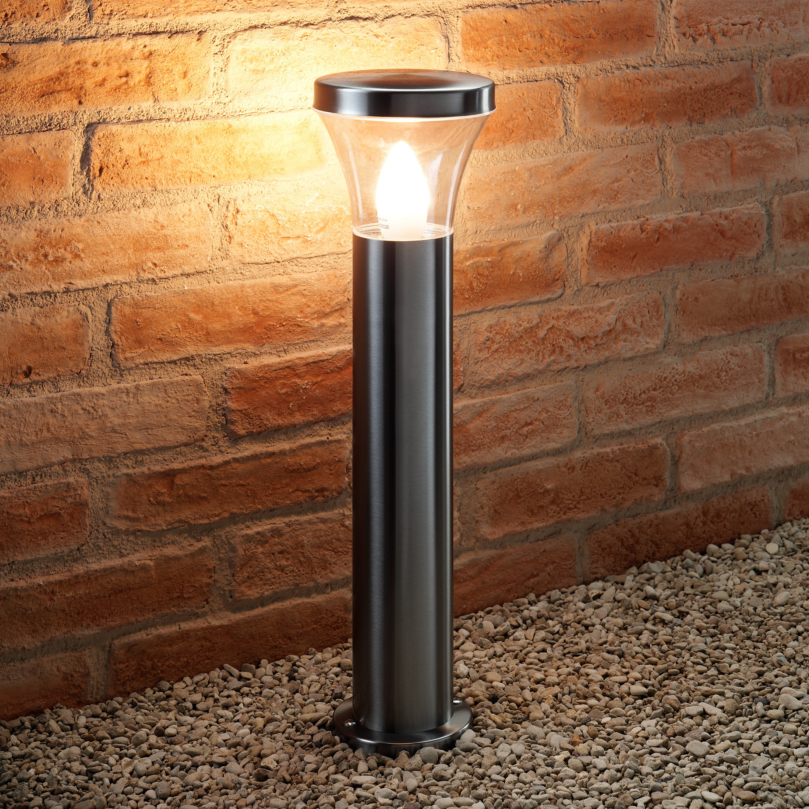 Auraglow Ip44 Stainless Steel Post Light Dakota