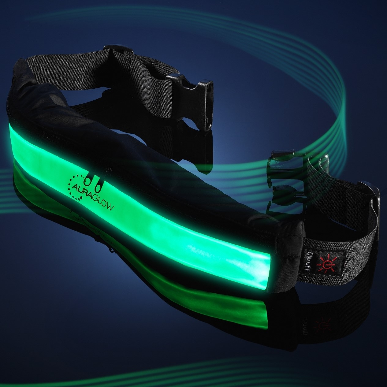 Auraglow Rechargeable High Visibility Led Running Belt