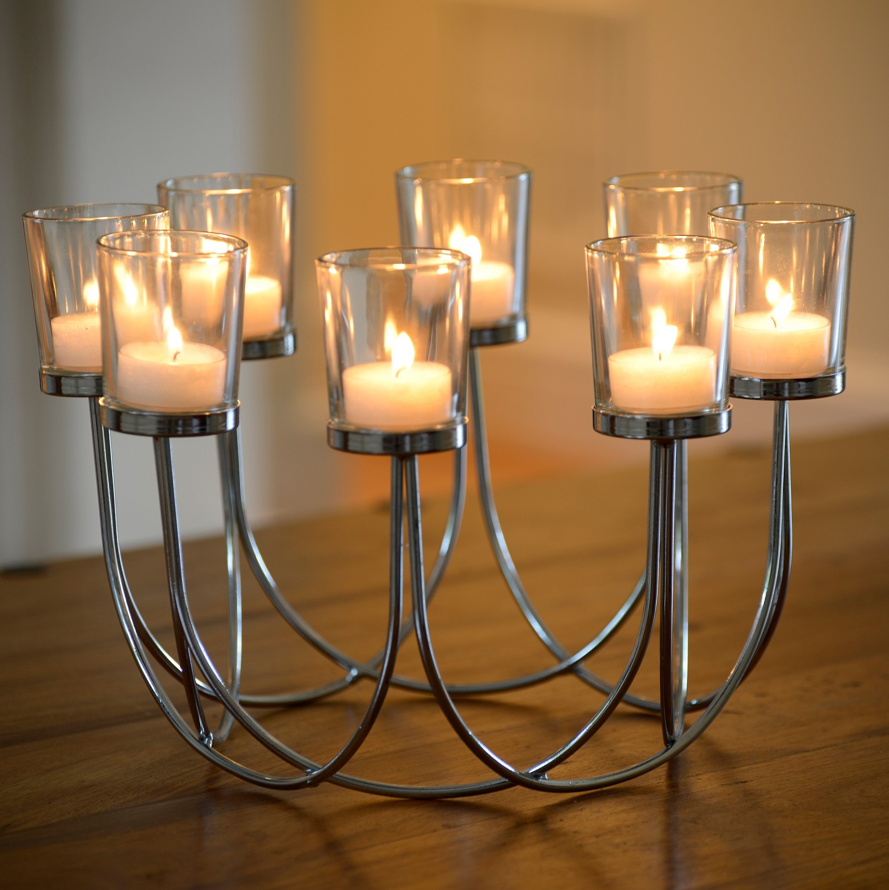 Tea Light Glass Candle Holder Auraglow Led Lighting
