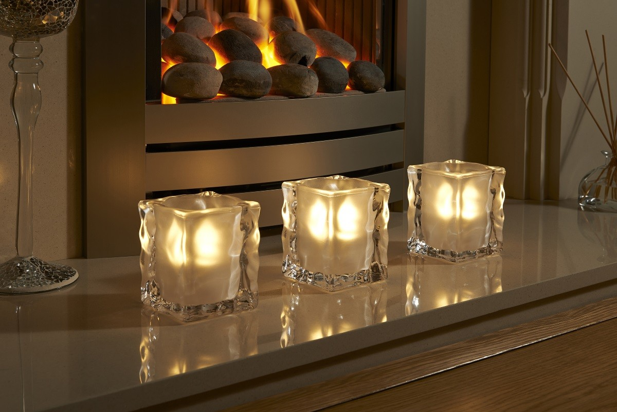 Frosted Light Bulbs >> Auraglow Glass LED Candle Holders - Auraglow LED Lighting