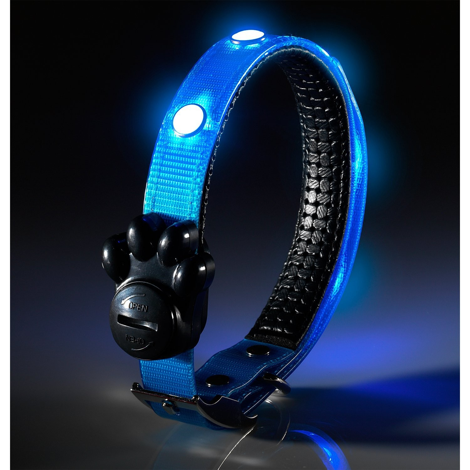 pet light usb cat belt safety itm flashing adjust neck led dog collar adjustable nylon up rechargeable