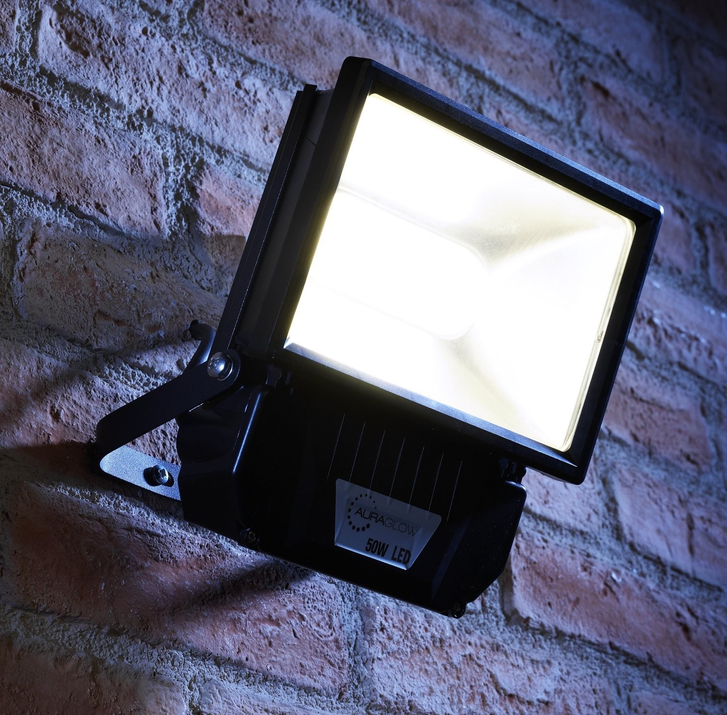 Auraglow 50w Led Security Light 250w Eqv Black