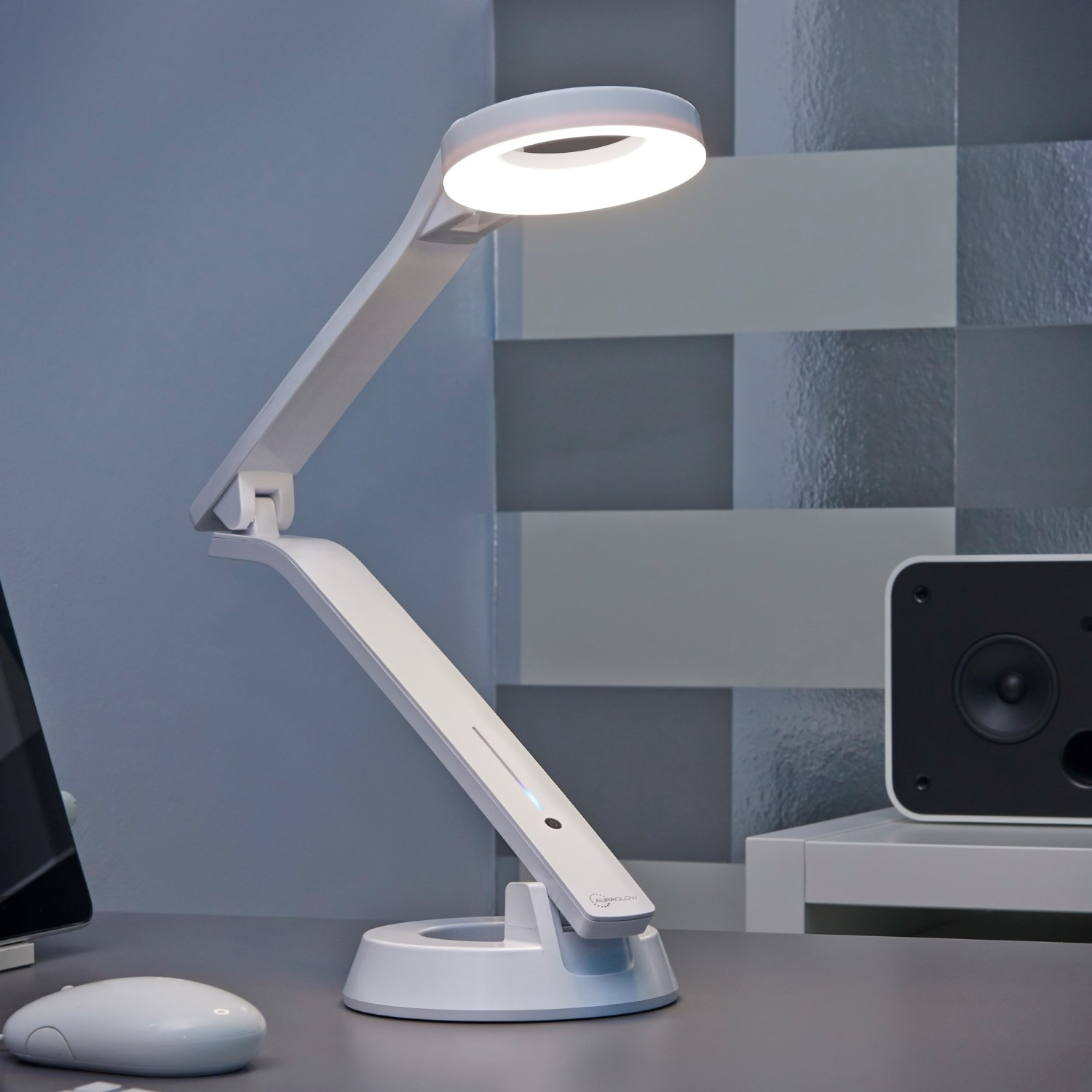 Led Halo Desk Lamp For Office And Home Get The Light Just Right Auraglow Auraglow Led Lighting
