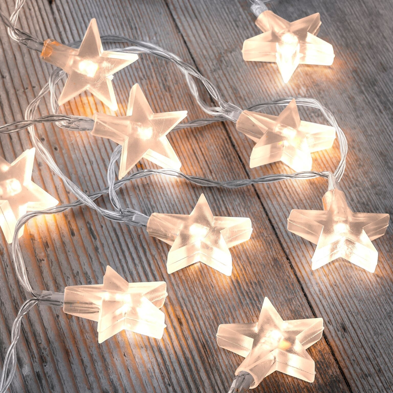 Set Of 12 Battery Operated 2 5m Indoor String Lights