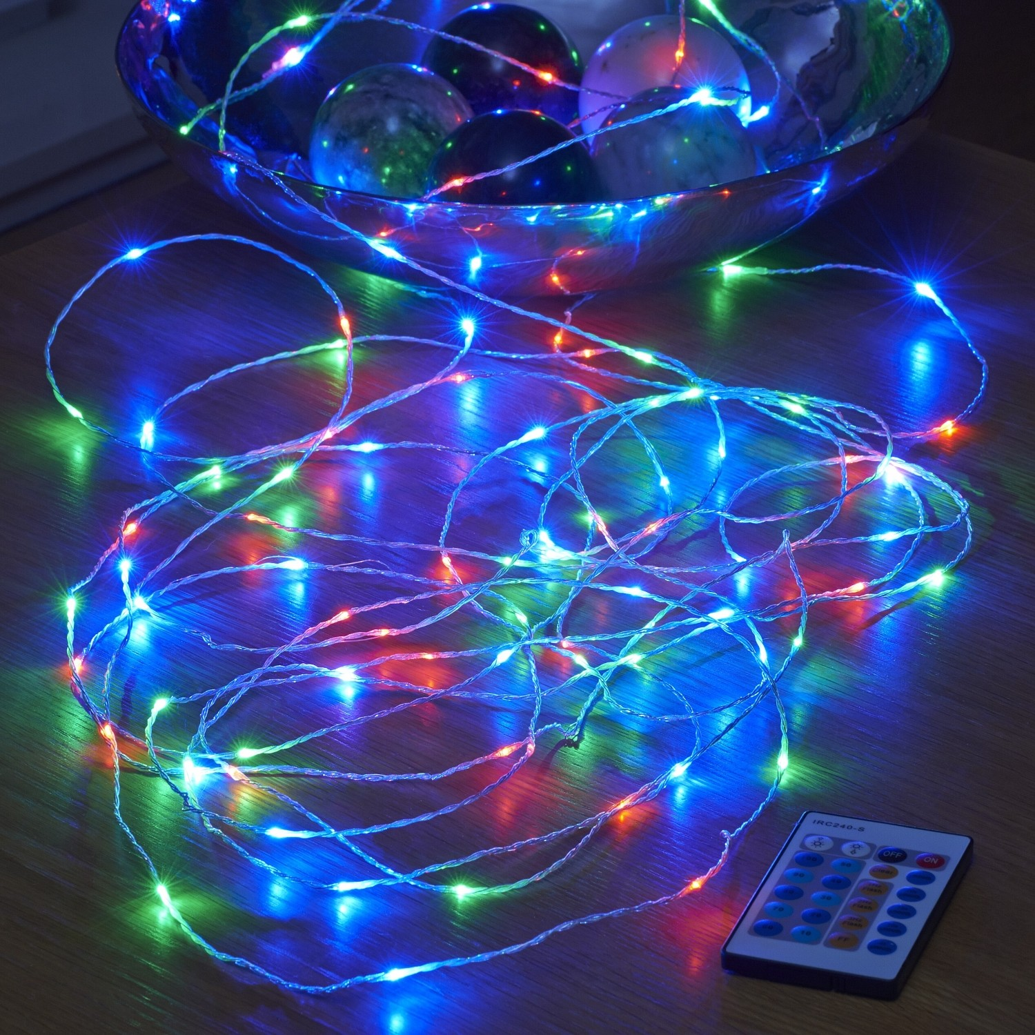 Micro Led String Lights Mains Powered Remote