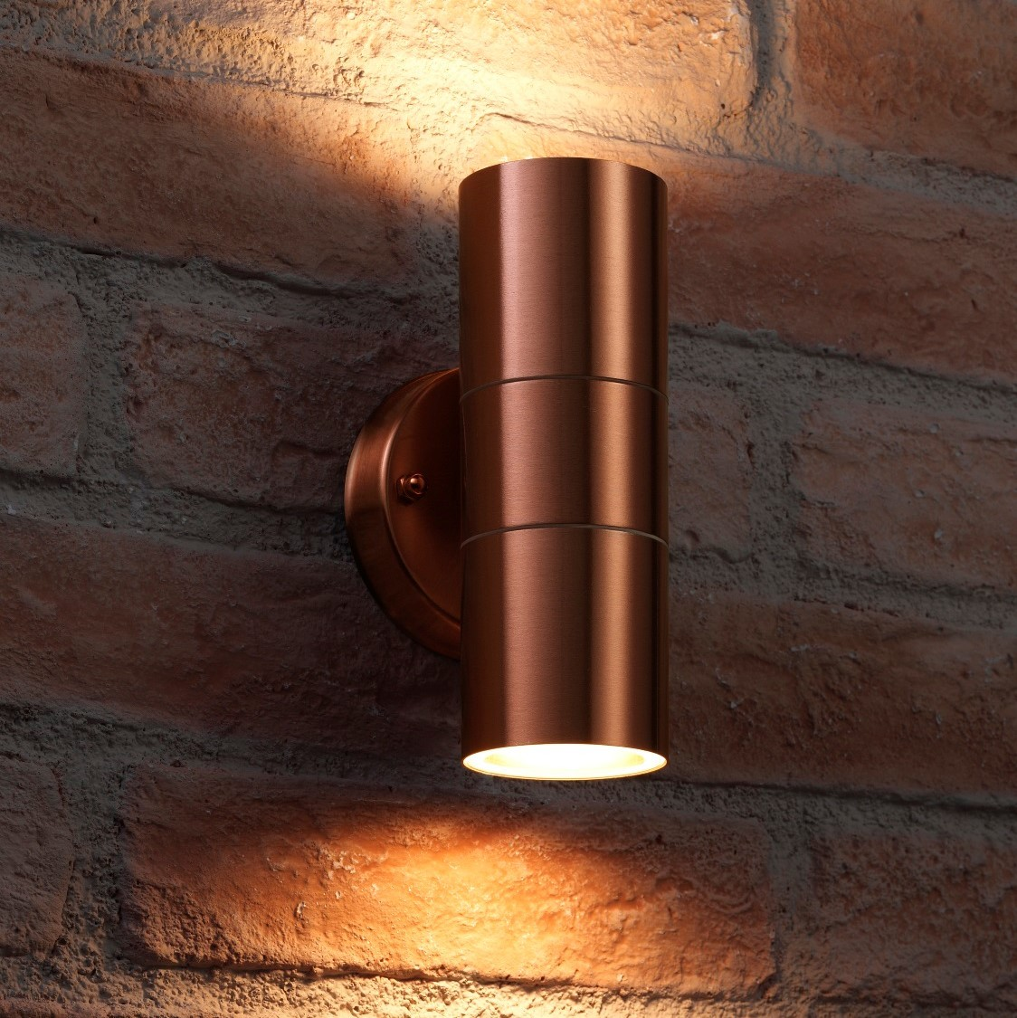 Auraglow Up Down Outdoor Wall Light Winchester Copper Auraglow Led Lighting