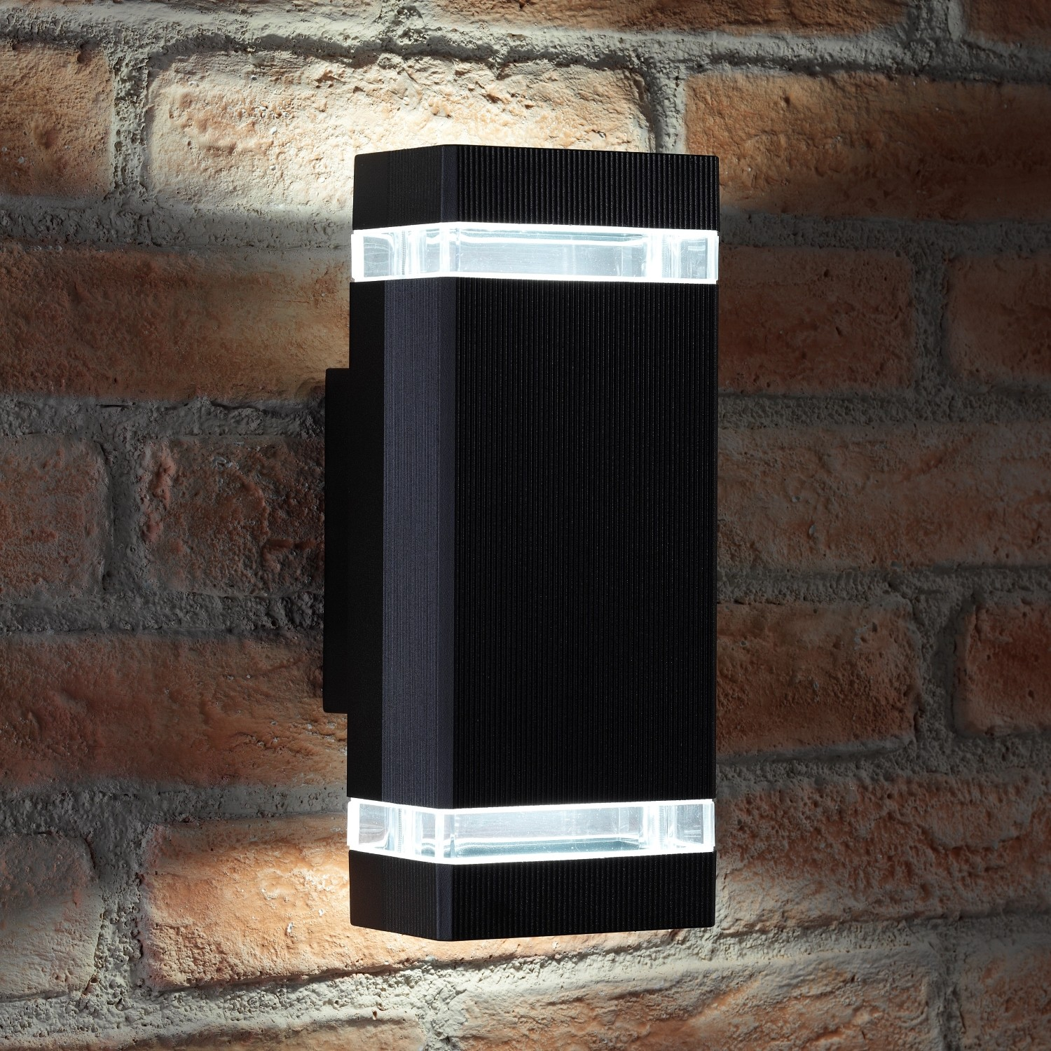 auraglow large outdoor double up down wall light chilton black auraglow auraglow led. Black Bedroom Furniture Sets. Home Design Ideas