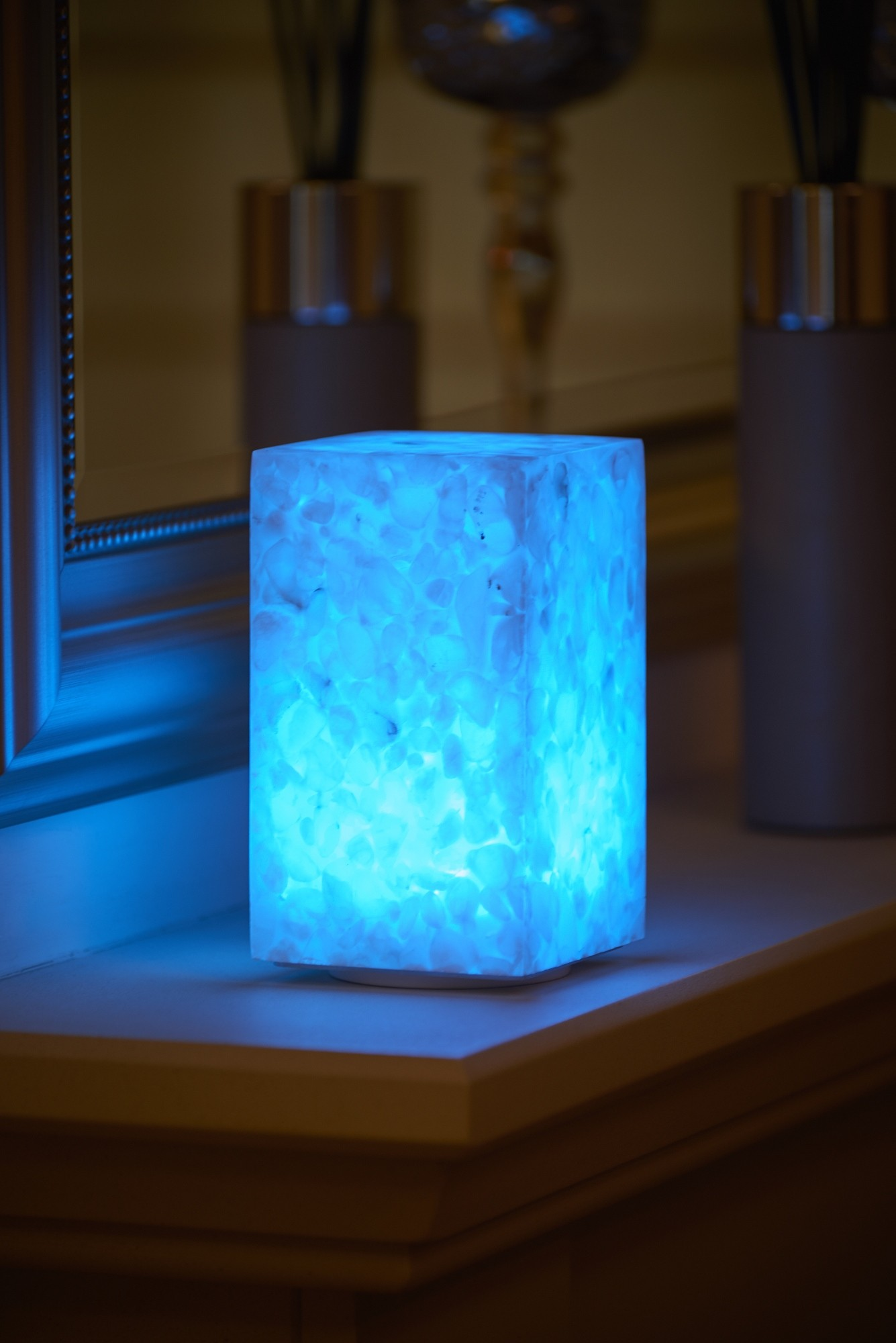 Auraglow Rechargeable Cordless Colour Changing LED Table Lamp U2013 STONE