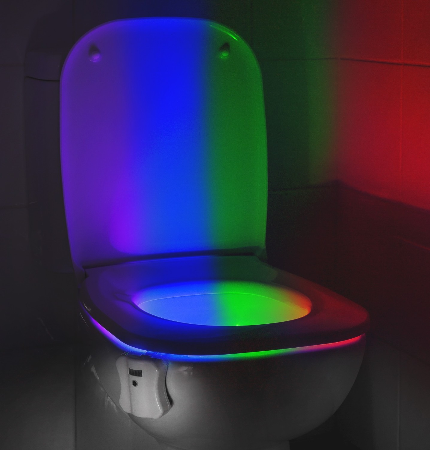 Auraglow Led Motion Activated Toilet Bowl Night Light Auraglow Led Lighting