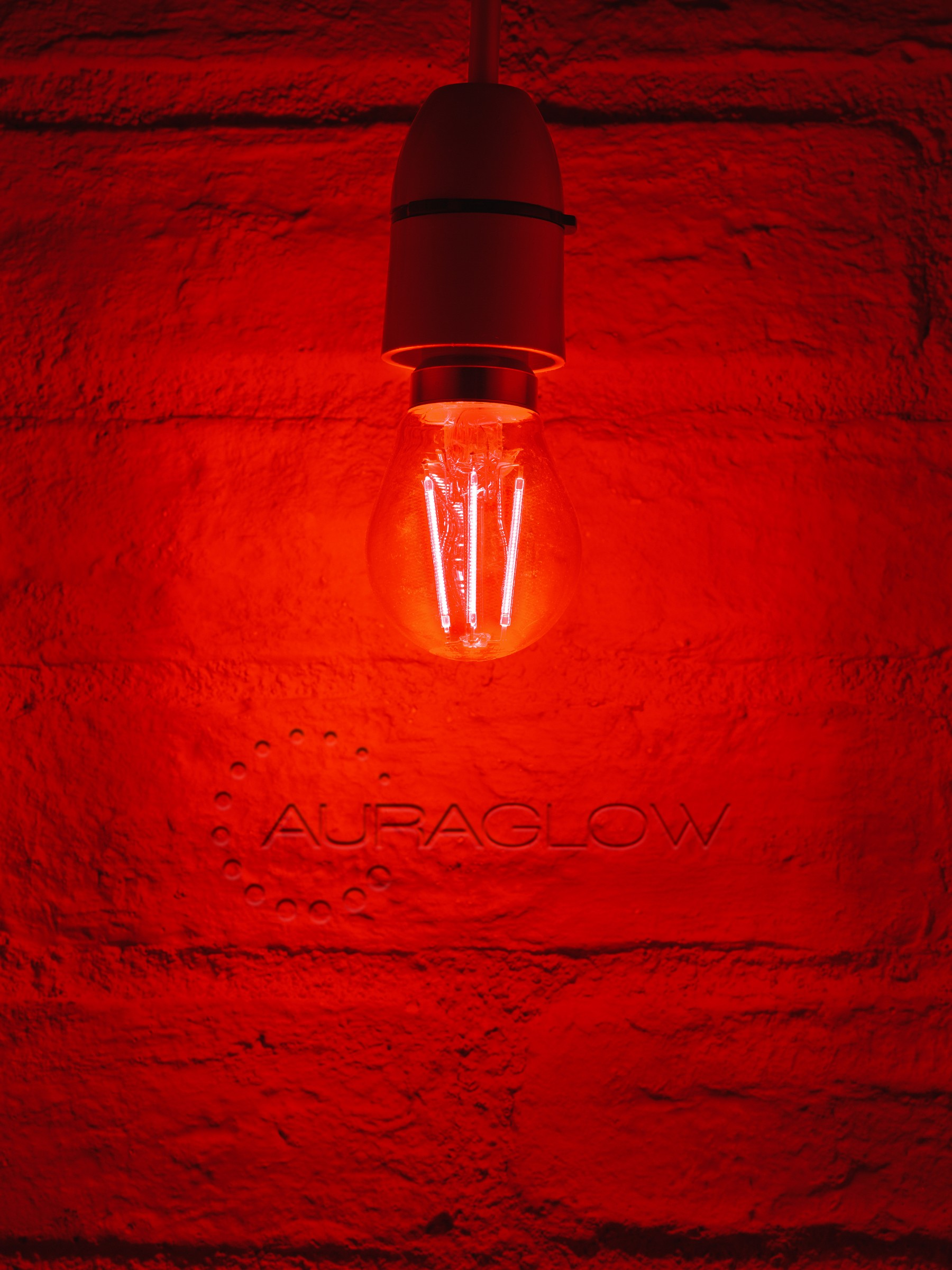 led index red bulbs store light