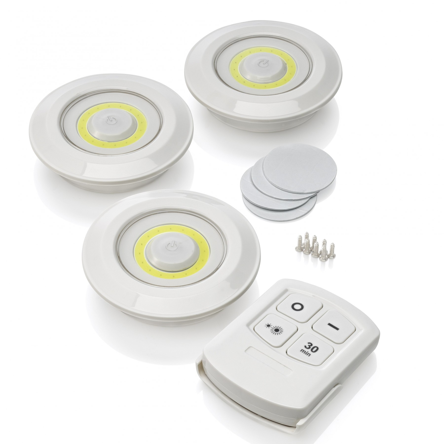 Auraglow Remote Controlled Wireless Under Cabinet Led Lights 3 Pack