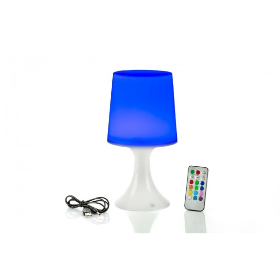 Auraglow 7w Remote Control Colour Changing Led Light Bulb: Colour Changing LED Table Lamp