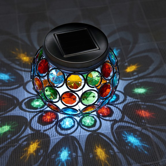 Auraglow Mosaic Solar Table Light Auraglow Led Lighting