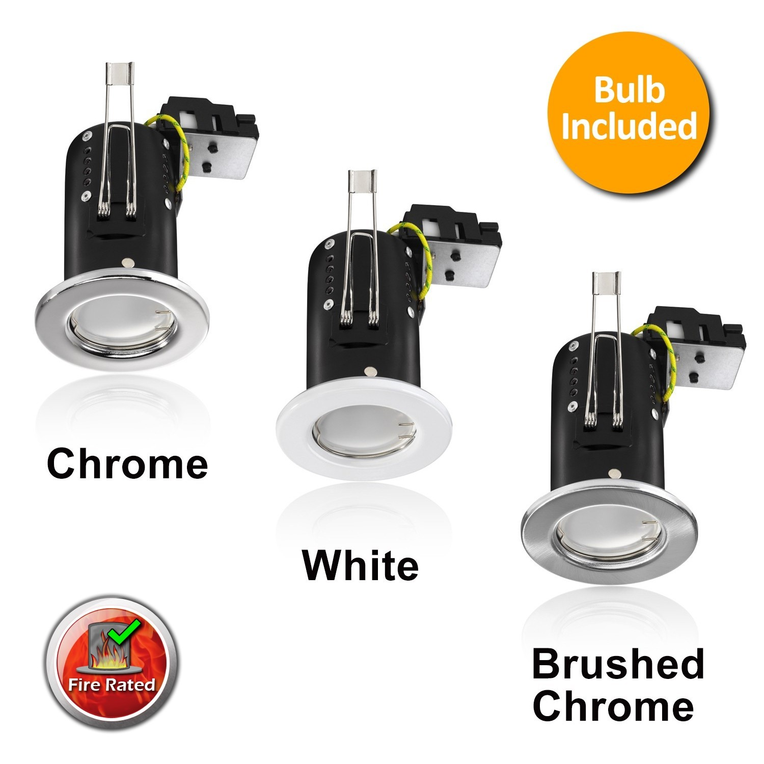 GU10 Fire Rated Downlight Fitting with 7w bulb included.5