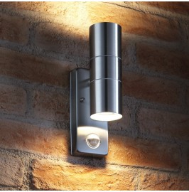 Auraglow PIR Motion Sensor Stainless Steel Security Lamp Up & Down Outdoor Wall Light1