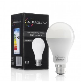 AURAGLOW Super Bright 16w LED B22 Bayonet Light Bulb, Warm White, 3000K - 1521 Lumens - 100w EQV - Dimmable.1