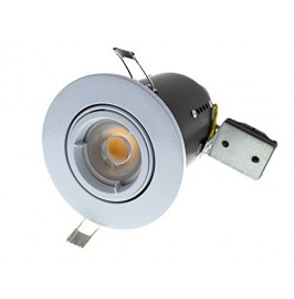 Fire Rated GU10 Lamp Holder Fitting 240v Mains Recessed Ceiling Spot Light Down lighter - White