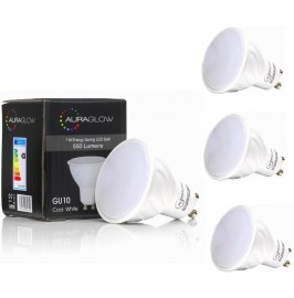 AURAGLOW 7W LED GU10 WARM WHITE - 70W EQV
