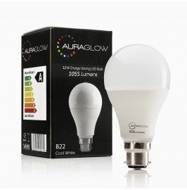 AURAGLOW 12w LED B22 Cool White - 75w EQV.1