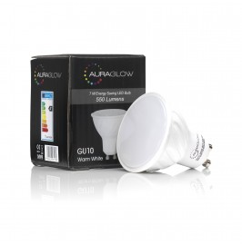 AURAGLOW 7W LED GU10 DAYLIGHT WHITE - 70W EQV..1
