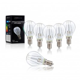Auraglow 4w G45 Golf Ball Filament LED Vintage Light Bulb - E14 - WARM WHITE.2