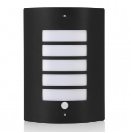 Auraglow Stainless Steel PIR Motion Sensor Outdoor Security Wall Light - DORTON - Black - Fitting Only