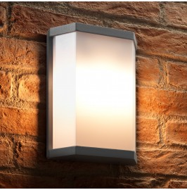 Auraglow 10w Futuristic Outdoor Wall Light - BRANSTON