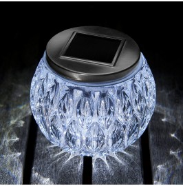 Auraglow Glass Garden Solar Table Light