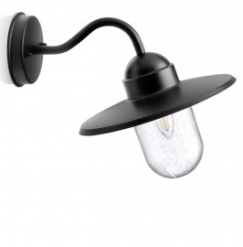 Auraglow Outdoor Wall Lantern - NAUTICAL - Black - Fitting Only