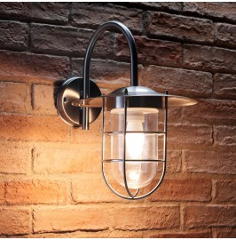 Auraglow Stainless Steel Fishermans Wall Light - NAZEING