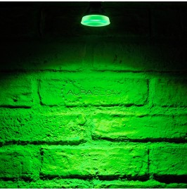 Auraglow LED Coloured GU10 Spotlight Light Bulb - GREEN