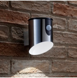 Auraglow Stainless Steel Battery Powered PIR Wall Light
