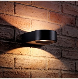 Auraglow Black Integrated LED Ring Up and Down Wall Light