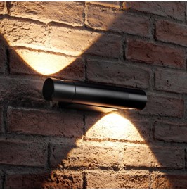 Auraglow Black Integrated LED Swivel Up and Down Wall Light