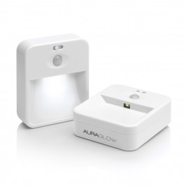 Auraglow 2.4ghz Wireless Network Sensor Night Lights - Twin Pack