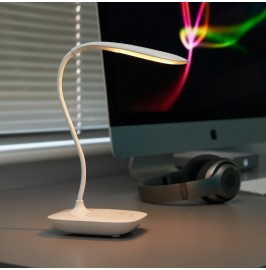 AG612 Auraglow Rechargeable Flexi Desk Lamp - Warm White