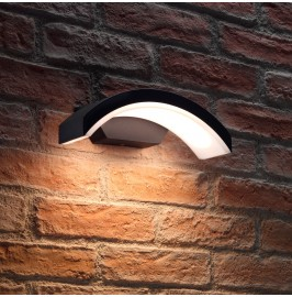 Auraglow Black Arch Integrated LED Outdoor Wall Light
