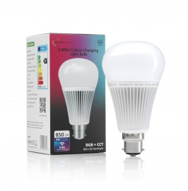 Auraglow 2.4Ghz RGB CCT Smart B22 LED Light Bulb - 70w EQV